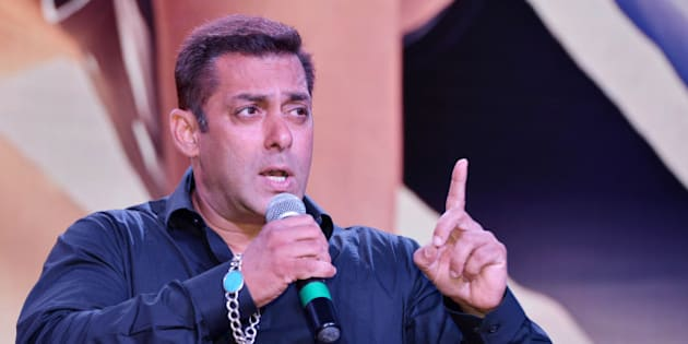MUMBAI, INDIA MAY 24 : Salman Khan at the theatrical trailer launch of his upcoming movie Sultan at Film City in Mumbai.(Photo by Milind Shelte/India Today Group/Getty Images)