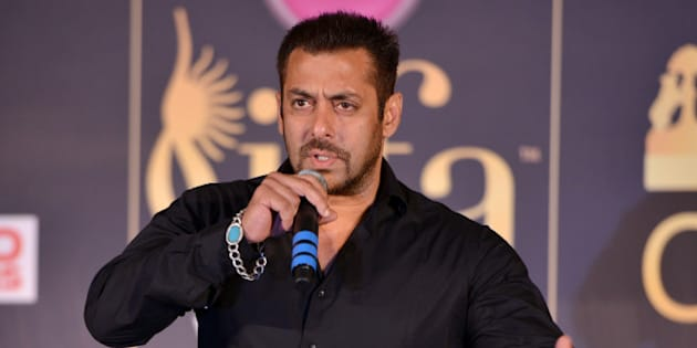 MUMBAI, INDIA MAY 20: Salman Khan during the press conference of 16th International Indian Film Academy (IIFA) Awards, at Taj Lands End, Bandra in Mumbai.(Photo by Milind Shelte/India Today Group/Getty Images)