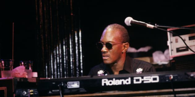 Bernie Worrell performing with Jack Bruce and Ginger Baker at the Bottom Line in New York City on December 7, 1989. He is playing a Roland D-50 keyboard. (Photo by Ebet Roberts/Redferns)