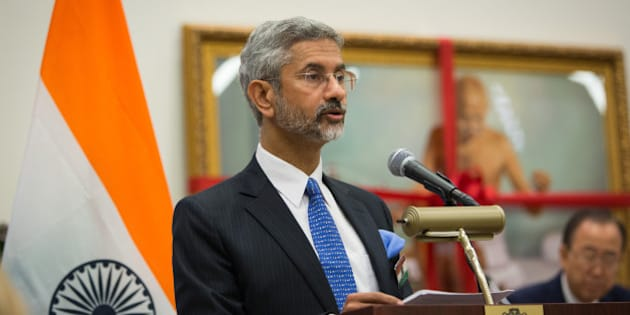 India's Foreign Secretary Subrahmanyam Jaishankar speaks during the special event to recognize the International Day of Non-Violence at the United Nations headquarters Friday, Oct. 2, 2015. (AP Photo/Kevin Hagen)