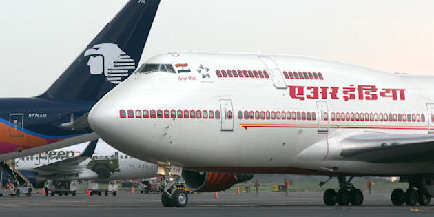 An aircraft operated by Air India Ltd. that is carrying Narendra Modi, India's prime minister, not pictured, taxis at an airport in Mexico City, Mexico, on Wednesday, June 8, 2016. The U.S. is India's 'indispensable partner' as the nations seek to elevate their ties in commerce and defense, Modi told a joint meeting of Congress in Washington. Photographer: Susana Gonzalez/Bloomberg via Getty Images