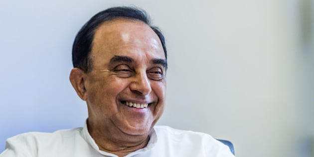 Subramanian Swamy, member of India's parliament for the Bharatiya Janata Party (BJP), speaks during an interview in New Delhi, India, on Friday, May 20, 2016. Outspoken, nationalist and combative toward minorities including Muslims and gays, Swamy has long been a lightning rod for controversy in India. Photographer: Prashanth Vishwanathan/Bloomberg via Getty Images