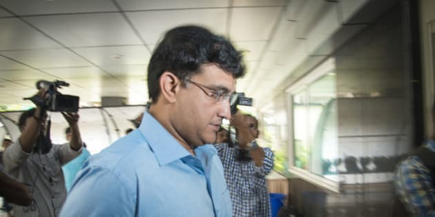 MUMBAI, INDIA  JULY 19: A council member Sourav Ganguly at the IPL governing council meeting on July 19, 2015 in Mumbai, India. (Photo by Aniruddha Chowhdury/Mint via Getty Images)