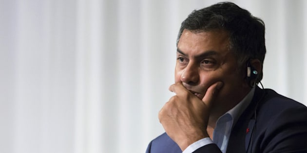 FILE: Nikesh Arora, president and chief operating officer of SoftBank Group Corp., attends a news conference in Tokyo, Japan, on Tuesday, May 10, 2016. Arora, the heir apparent at SoftBank Group Corp., will step down from the Japanese company in a surprise departure after founder Masayoshi Son made clear he wouldn't get the top executive role in the near future. Photographer: Tomohiro Ohsumi/Bloomberg via Getty Images
