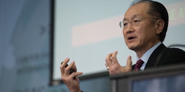 World Bank president Jim Yong Kim speaks during a conversation entitled Preventing The Next Pandemic at the Center for International and Strategic Studies (CSIS) in Washington,DC, on June 2, 2016. / AFP / NICHOLAS KAMM        (Photo credit should read NICHOLAS KAMM/AFP/Getty Images)