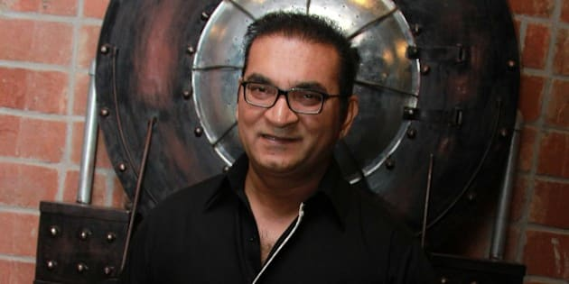 NEW DELHI, INDIA - JUNE 5: Bollywood singer Abhijeet Bhattacharya during the launch party of a new restaurant Hybrid on June 5, 2015 in New Delhi, India. (Photo by Wassem Gashroo/Hindustan Times via Getty Images)