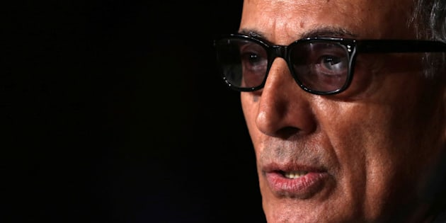 "Director Abbas Kiarostami speaks during a news conference for the film ""Like Someone in Love"" in competition at the 65th Cannes Film Festival, May 21, 2012. REUTERS/Vincent Kessler/File Photo"