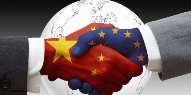 China and the European Union shaking hands