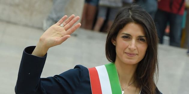 Newly elected mayor of Rome Virginia Raggi attends a ceremony on June 23, 2016 at the Vittoriano, the tomb of the Unknown Soldier at Piazza Venezia in Rome.  / AFP / Andreas SOLARO        (Photo credit should read ANDREAS SOLARO/AFP/Getty Images)
