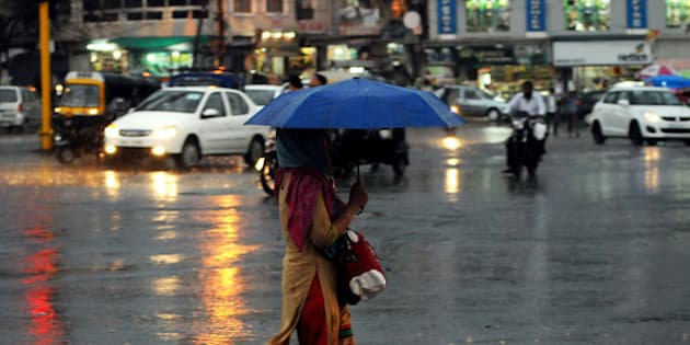 BHOPAL, INDIA - JUNE 18: Rainfall drenched the city on June 18, 2016 in Bhopal, India. According to the weatherman, moisture incursion is taking place in the state from Arabian Sea which has lead to the rain. Bhopal recorded a rainfall of 1.5mm during the last 24 hours. (Photo by Praveen Bajpai/Hindustan Times via Getty Images)