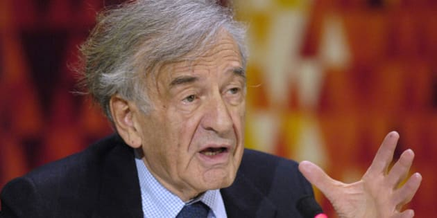 Noble Laureate Elie Wiesel speaks about the report he helped prepare discussing the situation in North Korea at the United Nations in New York, U.S. on November 16, 2006.  REUTERS/Chip East/File Photo