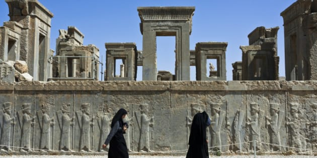Iran, Fars Province, Persepolis, listed as World Heritage by UNESCO, Palace of Darius Ist