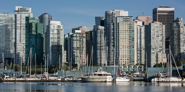 VANCOUVER, CANADA - JUNE 30:  The city skyline and Coal Harbour are viewed from Stanley Park on June 30, 2016, in Vancouver, British Columbia, Canada.  Vancouver, the largest city in British Columbia, is the most populous city in Western Canada and was the site of the 2010 Winter Olympic Games. (Photo by George Rose/Getty Images)