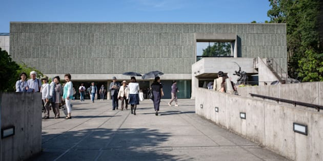 TOKYO, JAPAN - MAY 18:  Visitors gather at the National Museum of Western Art on May 18, 2016 in Tokyo, Japan. UNESCO advisory panel has recommended the main building of the National Museum of Western Art in Tokyo and 16 other buildings designed by Le Corbusier on the list of cultural heritage sites, which will be finalized by UNESCO's World Heritage Committee in July, 2016.  (Photo by Christopher Jue/Getty Images)