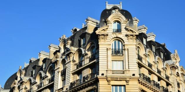 immeuble de type haussmannien dans les beaux quartiers de Paris