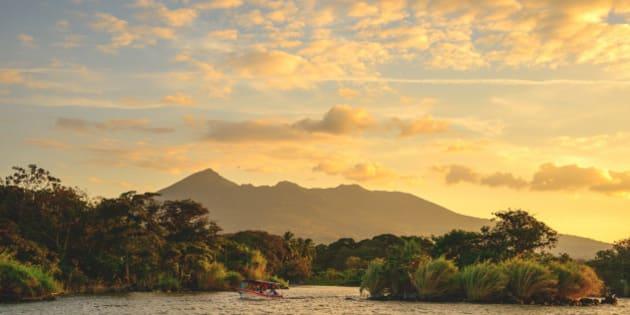 Sunset on Lake Ometepe in Nicaragua