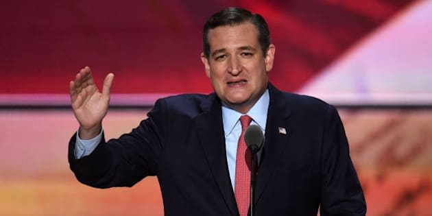 US Senator Ted Cruz of Texas speaks on the third day of the Republican National Convention in Cleveland, Ohio, on July 20, 2016. / AFP / Timothy A. CLARY        (Photo credit should read TIMOTHY A. CLARY/AFP/Getty Images)