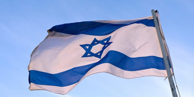 Low angle view of an Israeli Flag fluttering, Israel