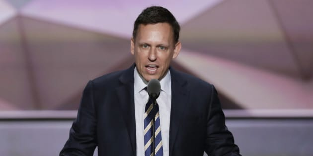 Entrepreneur Peter Thiel speaks during the final day of the Republican National Convention in Cleveland, Thursday, July 21, 2016. (AP Photo/J. Scott Applewhite)