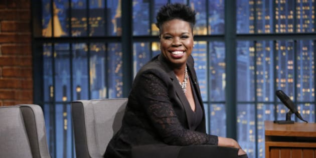 LATE NIGHT WITH SETH MEYERS -- Episode 397 -- Pictured: Actress Leslie Jones on July 21, 2016 -- (Photo by: Lloyd Bishop/NBC/NBCU Photo Bank via Getty Images)