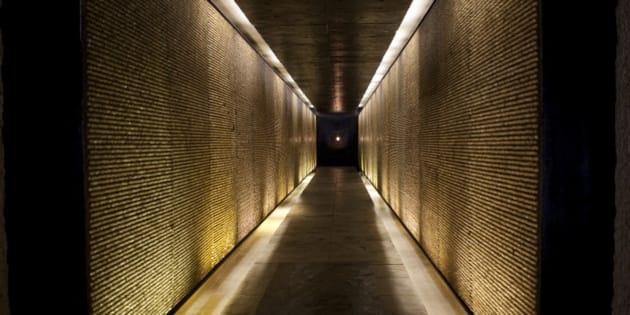 The holocaust memorial in Paris