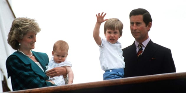 VENICE, ITALY - MAY 05:  Prince  Charles, Princess Diana, Prince William And Prince Harry On The Royal Yacht Britannia.  (Photo by Tim Graham/Getty Images)