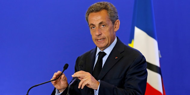 Nicolas Sarkozy, head of France's Les Republicains political party and former French president, makes a statement at his party's headquarters in Paris, France, after a priest was killed with a knife and another hostage seriously wounded in an attack on a church in Saint-Etienne-du-Rouvray carried out by assailants linked to Islamic State, July 26, 2016.  REUTERS/Benoit Tessier