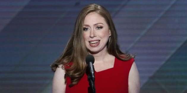 Chelsea Clinton, daughter of Democratic presidential nominee Hillary Clinton speaks during the final day of the Democratic National Convention in Philadelphia , Thursday, July 28, 2016. (AP Photo/J. Scott Applewhite)