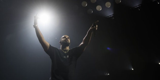 e286bb7ef Drake performs on stage during the Summer Sixteen Tour on Sunday