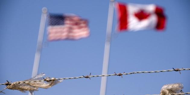 Canada, US Border Concept