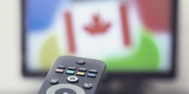 Canadian flag in TV