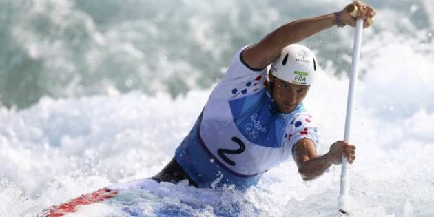 2016 Rio Olympics - Canoe Slalom - Semifinal - Men's Canoe Single (C1) Semi-final - Whitewater Stadium - Rio de Janeiro, Brazil - 09/08/2016. Denis Gargaud Chanut (FRA) of France competes. REUTERS/Ivan Alvarado FOR EDITORIAL USE ONLY. NOT FOR SALE FOR MARKETING OR ADVERTISING CAMPAIGNS.