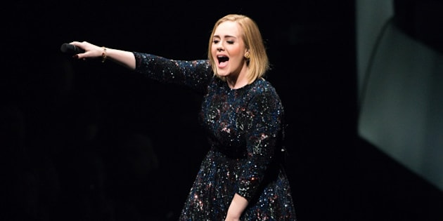 CHICAGO, IL - JULY 10:  Adele performs at United Center on July 10, 2016 in Chicago, Illinois.  (Photo by Daniel Boczarski/Getty Images for BT PR)