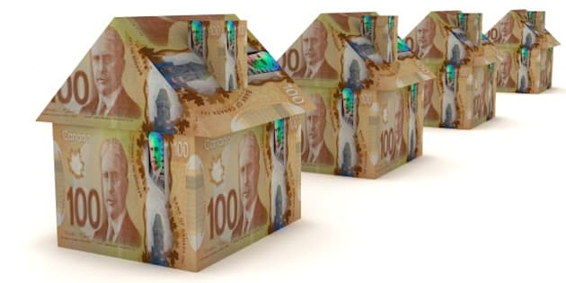 Canadian money real estate house concept