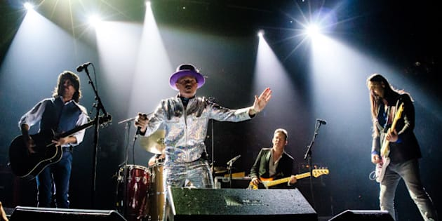 TORONTO, ON - AUGUST 10:  The Tragically Hip performs on stage during 'Man Machine Poem' tour at the Air Canada Center on August 10, 2016 in Toronto, Canada.  (Photo by GP Images/WireImage)
