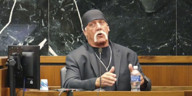 """Terry Bollea, known as professional wrestler Hulk Hogan, testifies in his case against the news website Gawker in St. Petersburg, Florida March 7, 2016. Hulk Hogan told a Florida jury on Monday he was """"completely humiliated"""" by a secretly recorded sex tape published online by Gawker, as he seeks $100 million in damages from the website in a case testing celebrity privacy rights and freedom of the press in the digital age.   REUTERS/Boyzell Hosey/Pool"""