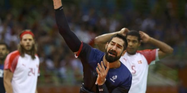 2016 Rio Olympics - Handball - Final - Men's Gold Medal Game Denmark v France - Future Arena - Rio de Janeiro, Brazil - 21/08/2016. Nikola Karabatic (FRA) of France in action. REUTERS/Damir Sagolj FOR EDITORIAL USE ONLY. NOT FOR SALE FOR MARKETING OR ADVERTISING CAMPAIGNS.