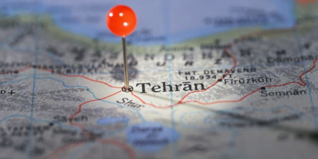 Tehran Marked on Map
