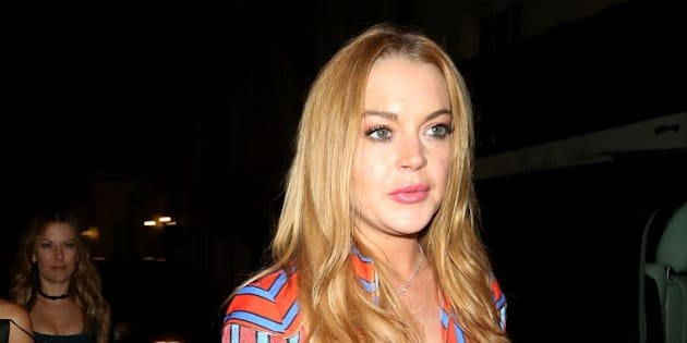 Photo by: KGC-172/182/STAR MAX/IPx 2016 6/8/16 Lindsay Lohan is seen at Lou Lou's Private Members Club in Mayfair. (London, England, UK)