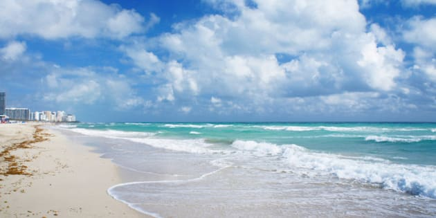 Atlantic Ocean view and South Beach of Miami, United States