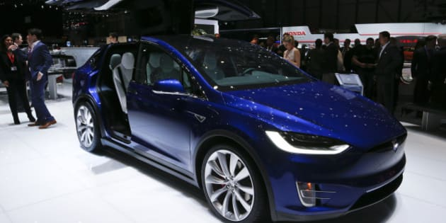 The new Tesla Model X P90D is pictured at the 86th International Motor Show in Geneva, Switzerland, March 1, 2016.  REUTERS/Denis Balibouse