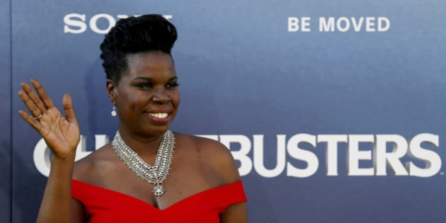 """Cast member Leslie Jones poses at the premiere of the film """"Ghostbusters"""" in Hollywood, California U.S., July 9, 2016. REUTERS/Mario Anzuoni/File Photo"""