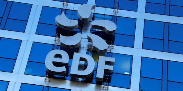 The logo of France's state-owned electricity company EDF is seen on the company's headquarters in Paris, France, February 16, 2016.  REUTERS/Jacky Naegelen/File Photo