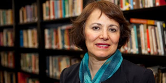 This undated photo made available by Amanda Ghahremani, shows retired Iranian-Canadian professor Homa Hoodfar. A Tehran prosecutor said Monday, July 11, 2016, that Hoodfar, who is a retired professor at Montreal's Concordia University, is among four people with foreign ties indicted on unknown charges in the Islamic Republic. Iran does not recognize dual nationalities. (Courtesy of Amanda Ghahremani via AP)