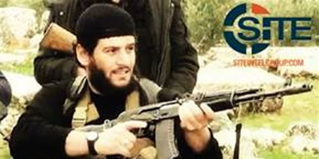 """This undated militant image provided by SITE Intel Group shows Abu Muhammed al-Adnani, the Islamic State militant group's spokesman who IS say was """"martyred"""" in northern Syria. The IS-run Aamaq news agency said Tuesday, Aug. 30, 2016 that al-Adnani was """"martyred while surveying the operations to repel the military campaigns against Aleppo,"""" without providing further details. (SITE Intel Group via AP)"""