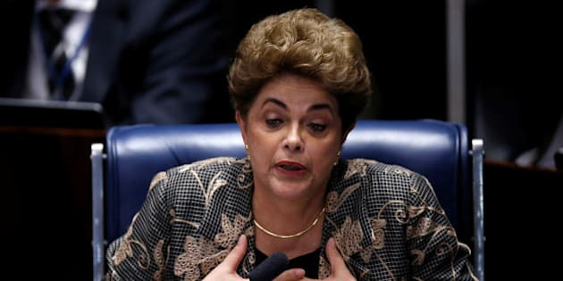 Brazil's suspended President Dilma Rousseff attends the final session of debate and voting on Rousseff's impeachment trial in Brasilia, Brazil, August 29, 2016. REUTERS/Ueslei Marcelino