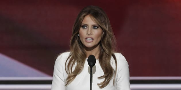 Melania Trump, wife of Republican presidential candidate Donald Trump, speaks at the Republican National Convention in Cleveland, Ohio, U.S. July 18, 2016.  REUTERS/Mike Segar
