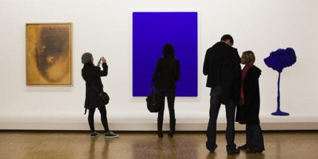 France, Paris, Centre Georges Pompidou, art gallery interior, NR