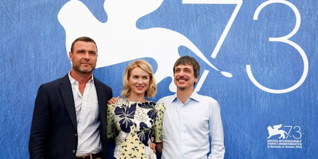 """Actor Liev Schreiber, actress Naomi Watts and director Philippe Falardeau (L-R) attend the photocall for the movie """"The Bleeder"""" at the 73rd Venice Film Festival in Venice, Italy September 2, 2016. REUTERS/Alessandro Bianchi"""