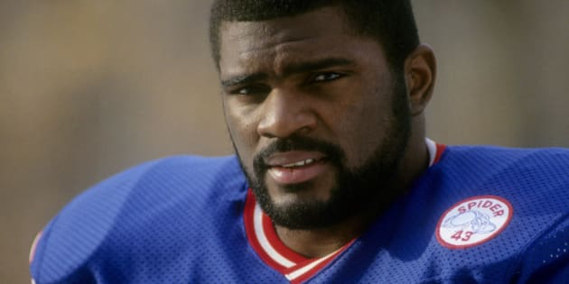 EAST RUTHERFORD, NJ - CIRCA 1986: Linebacker Lawrence Taylor #56 of the New York Giants in this portrait circa 1986 at Giant Stadium in East Rutherford, New Jersey. Taylor played for the Giants from 1981-93. (Photo by Focus on Sport/Getty Images)